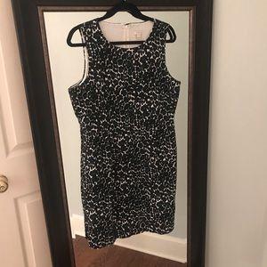 J CREW CHEETAH SHEATH DRESS SIZE 14 LIKE NEW!!
